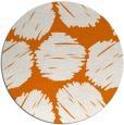rug #817068 | round orange retro rug