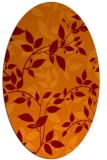 rug #817640 | oval red-orange natural rug