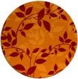 rug #817648 | round red-orange natural rug