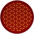 rug #817708 | round red-orange borders rug