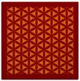 rug #817716 | square red-orange borders rug