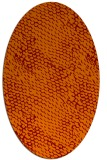 rug #817720 | oval red-orange animal rug