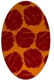 rug #817745 | oval orange circles rug