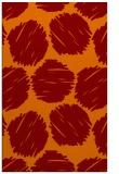 rug #817749 |  orange retro rug