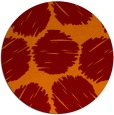 rug #817753 | round red-orange circles rug