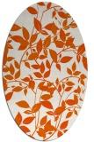 rug #818325 | oval red-orange rug