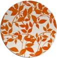 rug #818333 | round red-orange popular rug