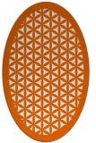 rug #818385 | oval red-orange rug