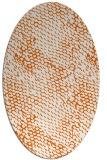 rug #818405 | oval red-orange animal rug