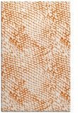 rug #818409 |  red-orange animal rug