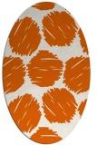 rug #818430 | oval red-orange circles rug