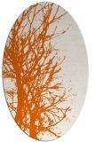 rug #818450 | oval red-orange rug