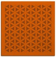 rug #819086 | square red-orange traditional rug