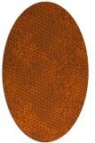 rug #819090 | oval red-orange popular rug