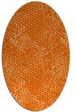 rug #819775 | oval red-orange animal rug
