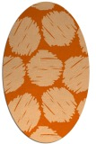 rug #819800 | oval red-orange circles rug