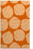rug #819804 |  red-orange circles rug