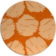 rug #819808 | round red-orange retro rug