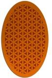 rug #820440 | oval borders rug