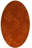 rug #820460 | oval red-orange rug