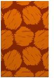rug #820489 |  red-orange circles rug
