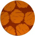rug #820493 | round red-orange circles rug