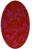 rug #821065 | oval pink natural rug
