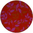 rug #821073   round red natural rug