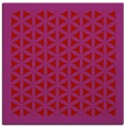 rug #821141 | square red traditional rug