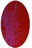 rug #821190 | oval pink natural rug