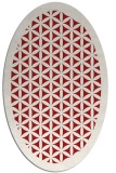 rug #821810 | oval red borders rug