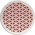 rug #821818 | round red borders rug