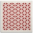 rug #821826 | square red traditional rug