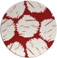 rug #821863 | round red circles rug