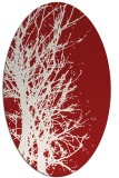 rug #821875 | oval red natural rug