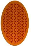 rug #822495 | oval orange borders rug