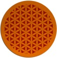 rug #822503 | round red traditional rug