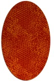 rug #822515 | oval red animal rug