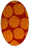 rug #822540 | oval red popular rug
