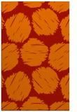 rug #822544 |  orange circles rug