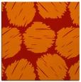 rug #822556 | square orange circles rug