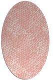rug #823720 | oval white animal rug