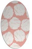 rug #823745 | oval pink circles rug