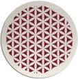 rug #825078 | round pink borders rug