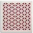 rug #825086 | square pink borders rug