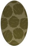 rug #826486 | oval retro rug