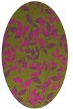 rug #827065 | oval pink natural rug