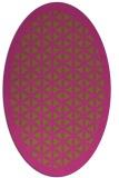rug #827125 | oval light-green rug