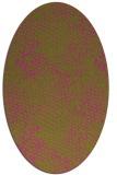 rug #827145 | oval pink animal rug