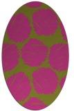 rug #827170 | oval pink circles rug